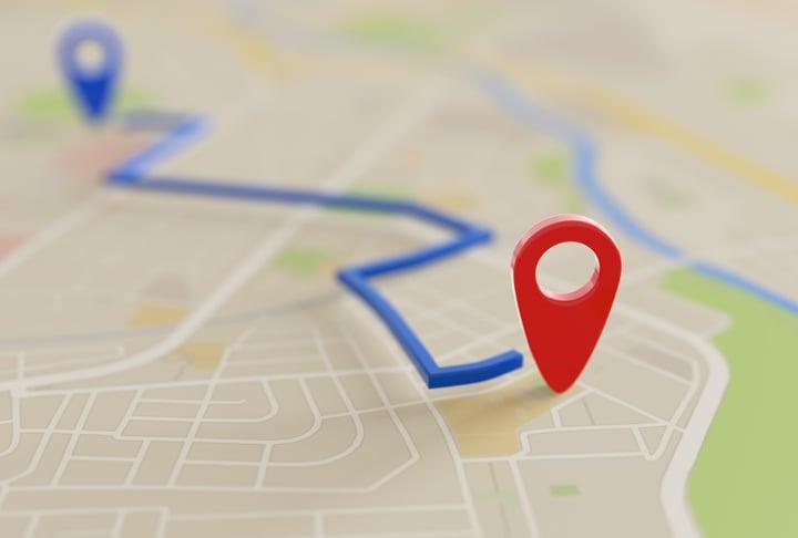 calcular ruta google maps