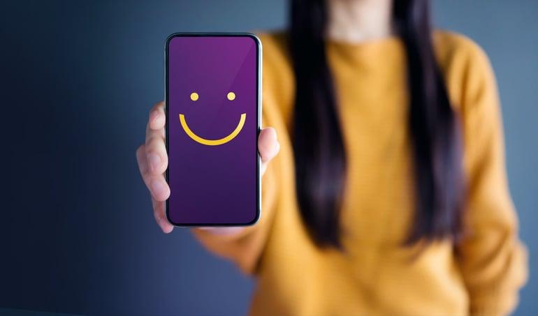 cliente feliz icono