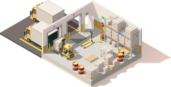 layout de un almacen ejemplo