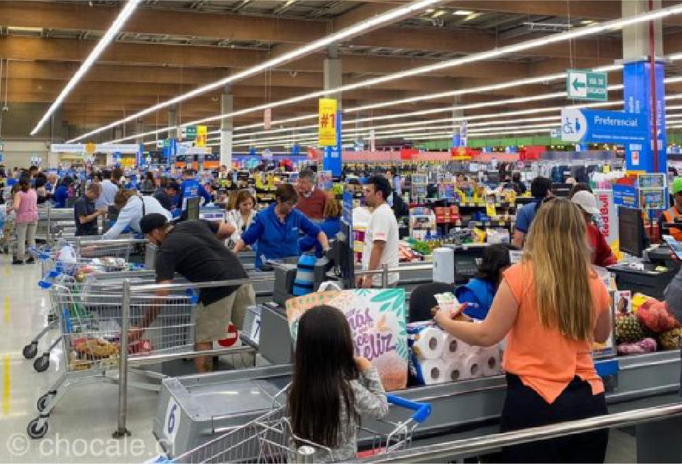 Ventas de supermercados vía web más que se duplican respecto a un día normal