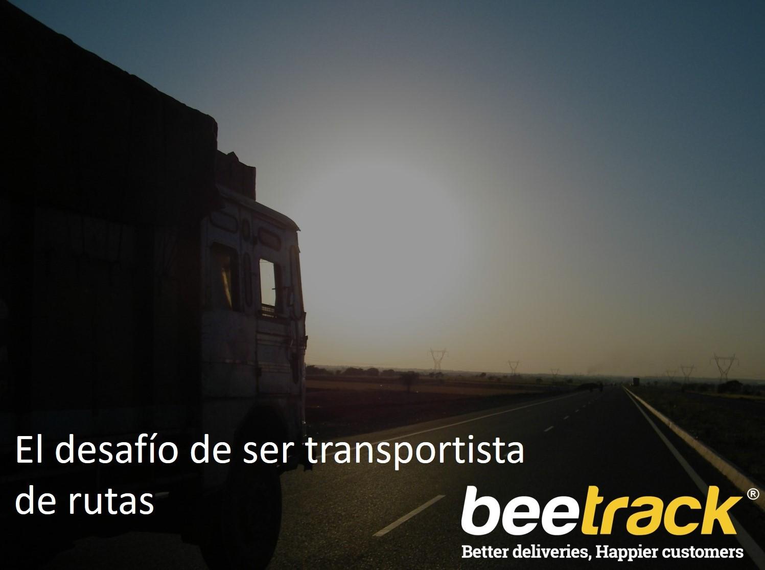 El desafío de ser transportista de rutas